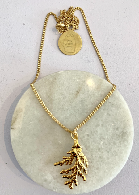 Dauphinette Cypress Necklace - 14k plated