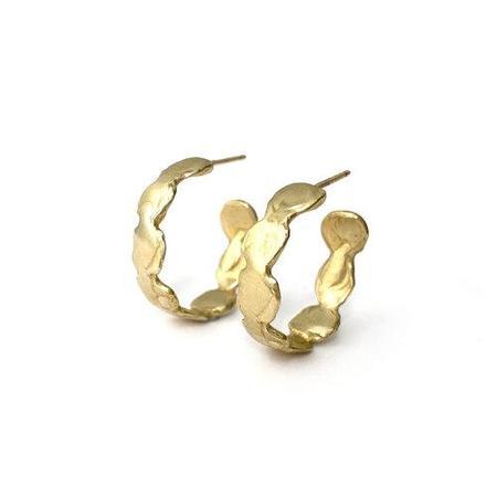 Goldeluxe Jewelry Small Reverie Hoop Earrings - Brass