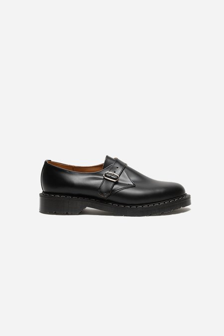 Solovair Single Buckle Monk Shoe - Black Hi-Shine