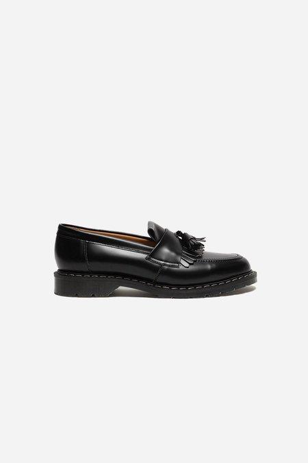 Solovair Tassel Loafer - Black Hi-Shine