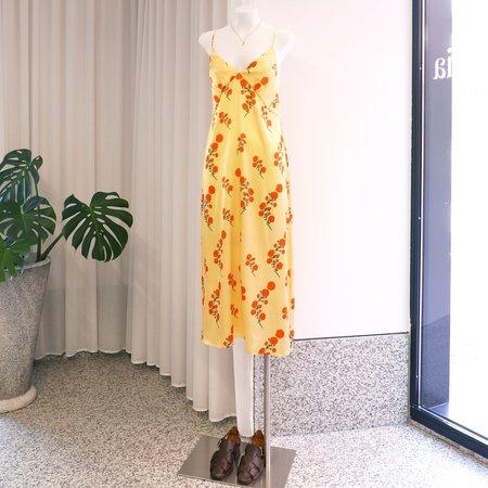 BERNADETTE Jeanine Silk Slipdress - Blossom Print/Red/Yellow