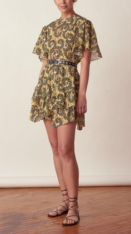 Derek Lam Layne Ruffle Hem Dress - Soft Yellow