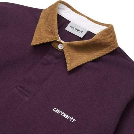 L/S CORD RUGBY POLO - BOYSENBERRY