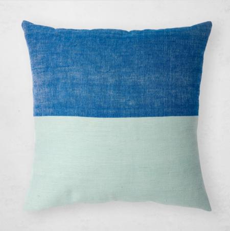 Bole Road Textiles Karo Pillow - azure/blue ivy