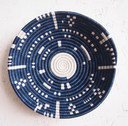 Amsha Kigembe Bowl - blue/white