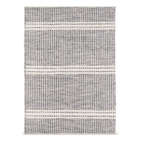 Dash and Albert Malta Woven Wool Rug - Grey/ivory