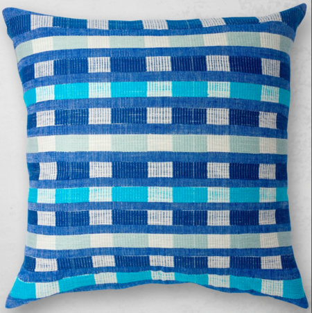 Bole Road Textiles Mursi Pillow - Azure multi