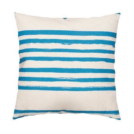 Kerri Rosenthal Stripe On Stripe Pillow - Turquoise