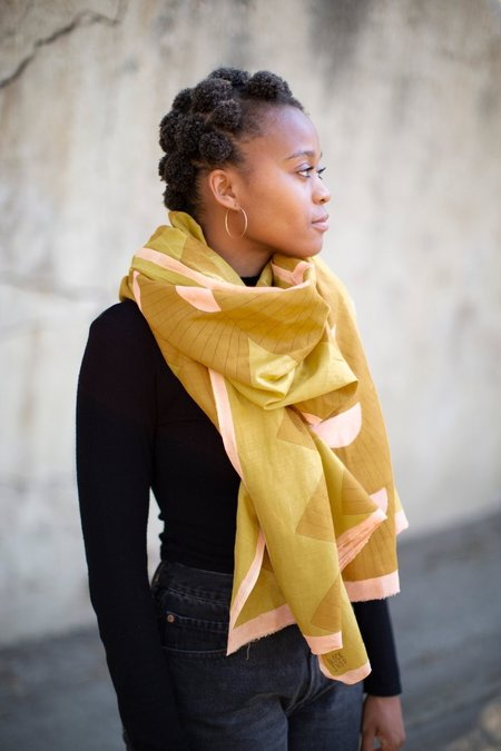 Block Shop Textiles Scarf - Parasol Honey