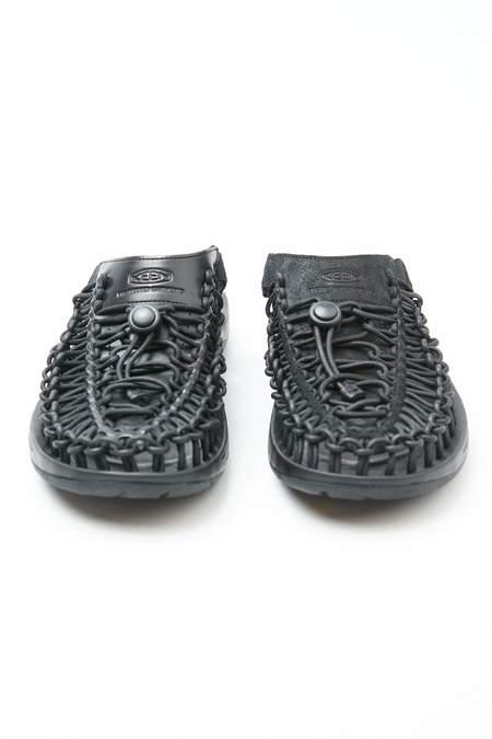 Engineered Garments x Keen Uneek Premium Leather Slide - Triple Black