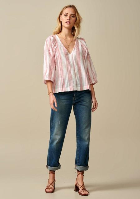 Bellerose Striped Blouse - Pink/Cream
