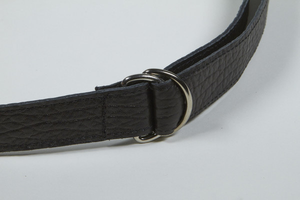 Clyde D Ring Belt in Black Calf Leather