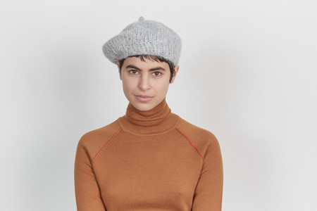 Clyde Knit Beret in Cloud