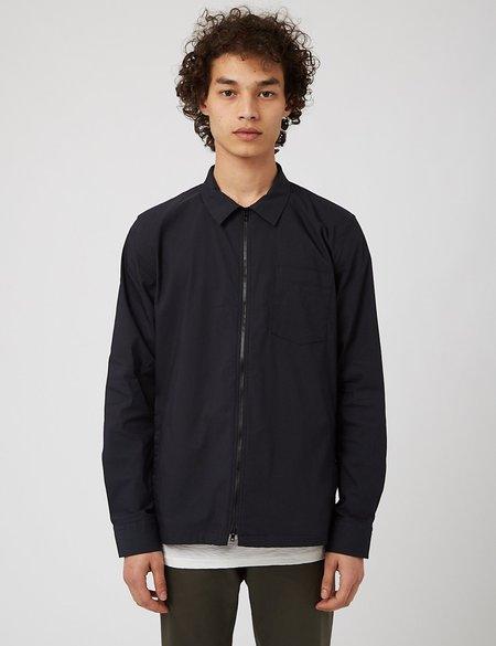 NN07 Zip Shirt - Navy Blue