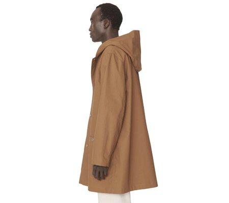 YMC Beat Generation Duffle Coat - Camel Bonded Cotton