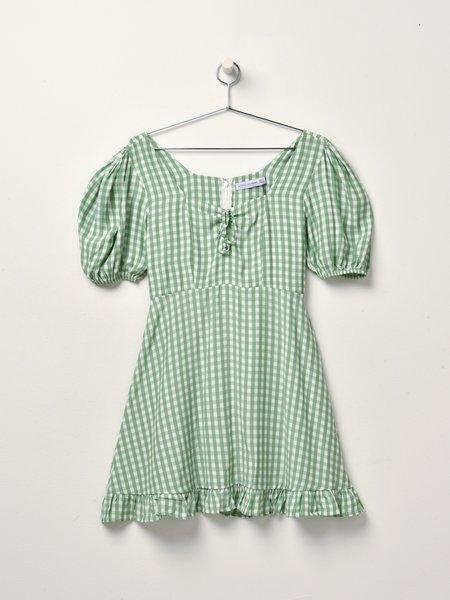 Faithfull The Brand Agathe Mini Dress - Kivotos Check Print
