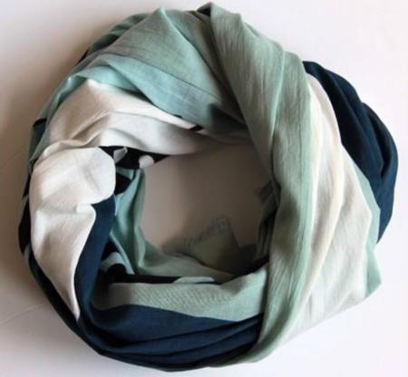 Les Belles Vagabondes Tropical Cotton Scarf - Blue