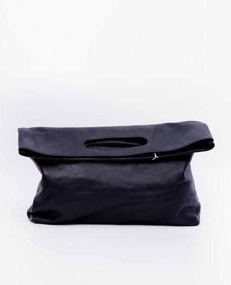 Modern Weaving Slouch Foldover Clutch - Black