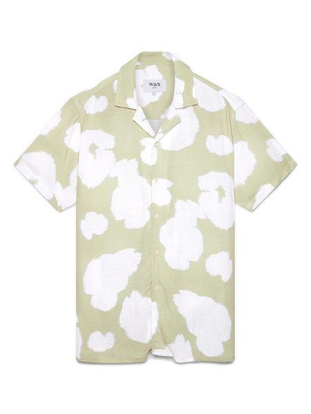 Wax London Didcot S/S Shirt - Sage poppy