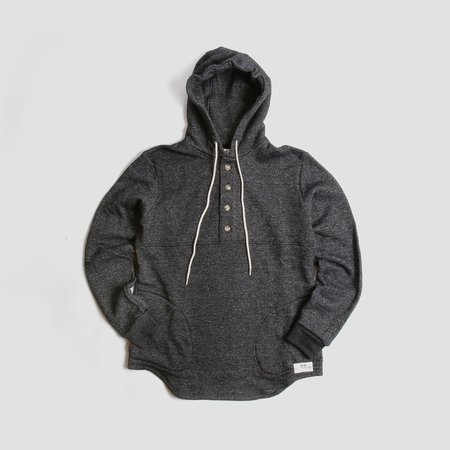MUTTONHEAD - Camping Hoodie Heather Charcoal