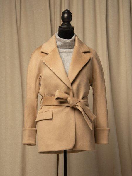 PURECASHMERE NYC Belted Jacket - Camel