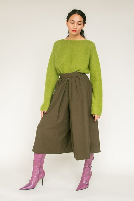 Vintage High Rise Culottes - Moss