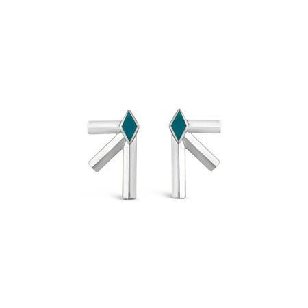 Sierra Winter Jewelry Bandit Earrings - Sterling Silver/Turquoise