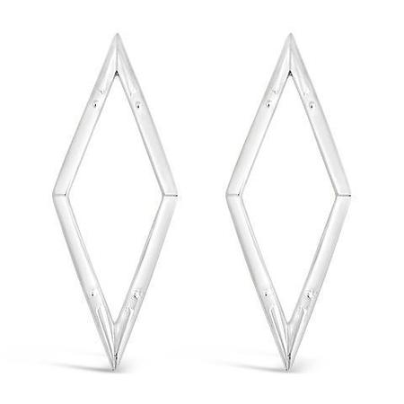 Sierra Winter Jewelry Diamond Back Earrings - Sterling Silver