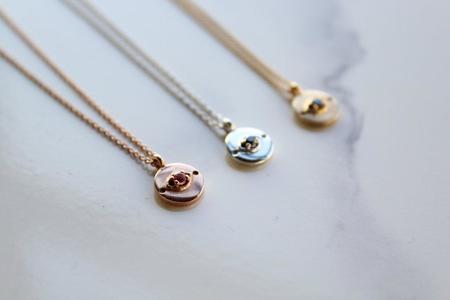 Sierra Winter Jewelry Evil Eye Necklace - 14K Rose Gold