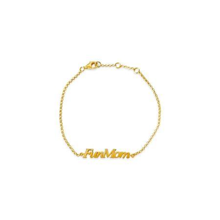 Sierra Winter Jewelry Fun Mom Bracelet - Gold Vermeil