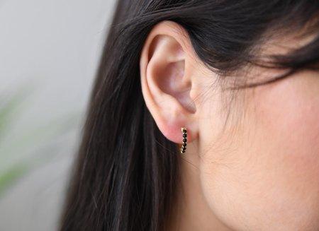Sierra Winter Jewelry Karma Hoop Earrings - Gold Vermeil/Black Onyx