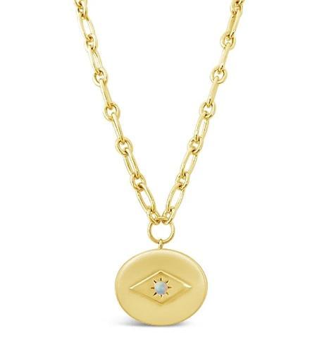 Sierra Winter Jewelry Opal Eve Necklace - Gold Vermeil/Ethiopian Opal