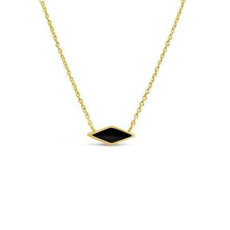 Sierra Winter Jewelry Sahara Necklace - Gold Vermeil/Black Onyx