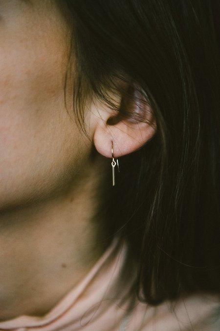 Sierra Winter Jewelry Side Kick Earrings - 14K yellow Gold