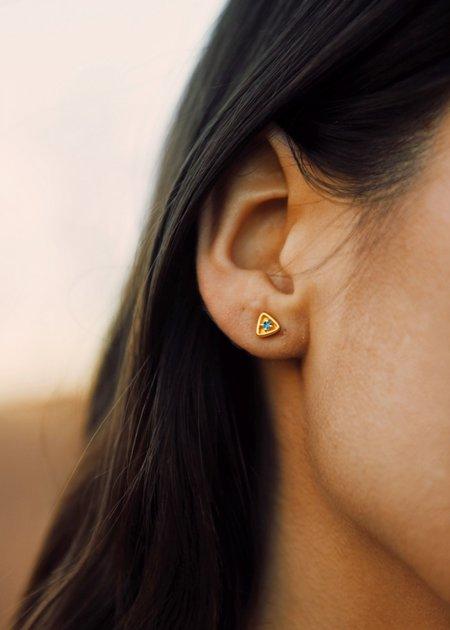Sierra Winter Jewelry Stargazer Earrings - Gold Vermeil /London Blue Topaz