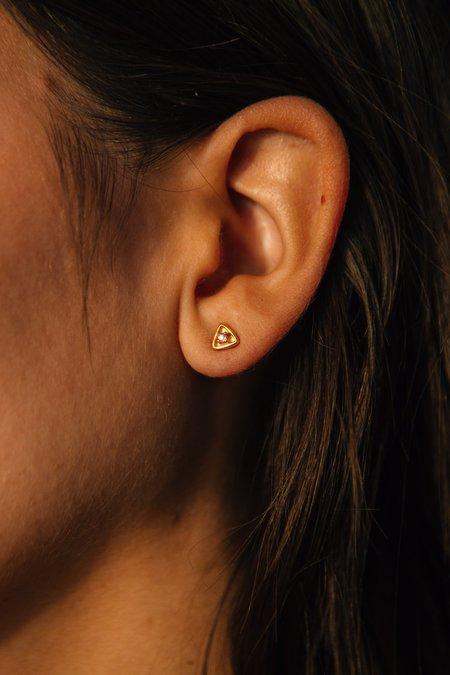 Sierra Winter Jewelry Stargazer Earrings - Pink Sapphire/Gold Vermeil