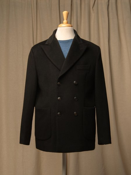 PURECASHMERE NYC Men Tailored Double Breasted Jacket - Black