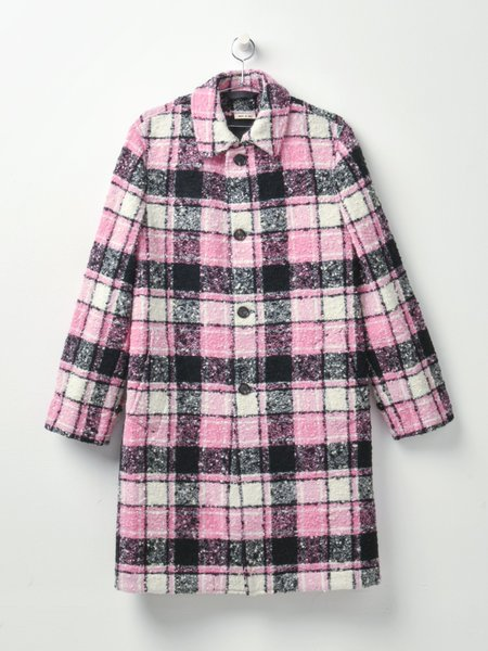 Marni OVERCHECK BOUCLE FLANNEL jacket - RASPBERRY CHECK