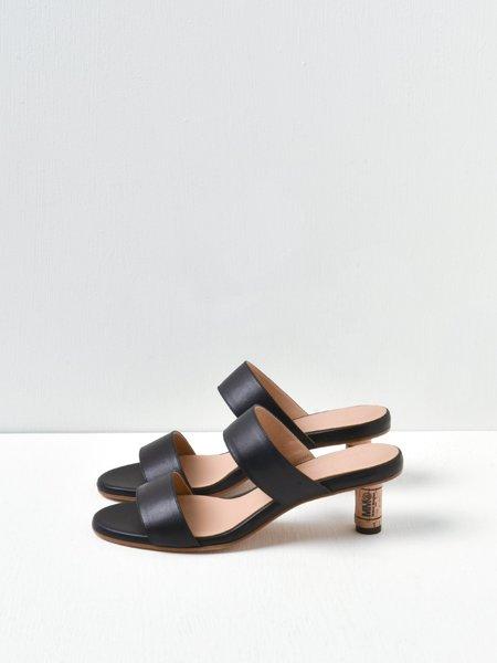 MM6 Maison Margiela Sandalo Sandals - Black/Doe Brown