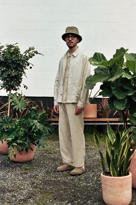 Satta Sprout Jacket - Linen Undyed Ecru