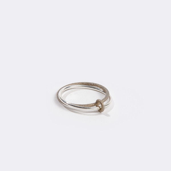 Metalepsis Projects Binary Ring Silver and Steel