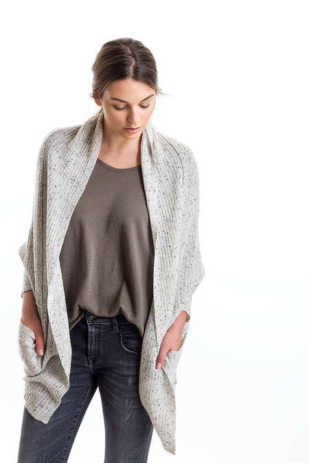 Paychi Guh Cashmere Cocoon Cardigan Grey/Speckle