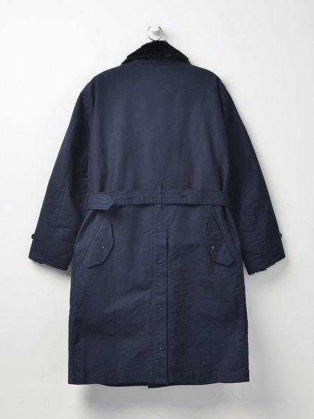 Engineered Garments Cotton Double Cloth Storm Coat - Navy