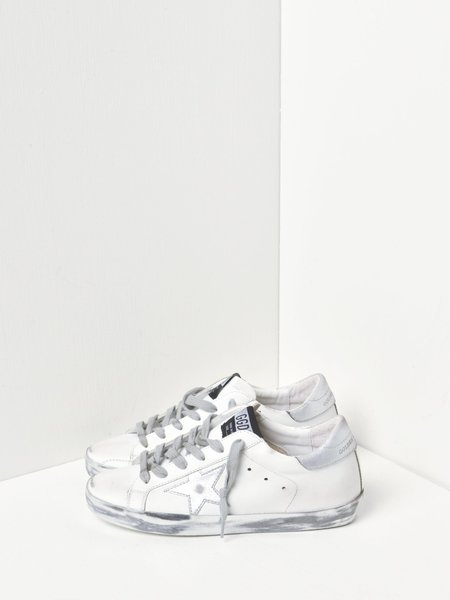 Golden Goose Superstar Leather Sneakers - White/Silver