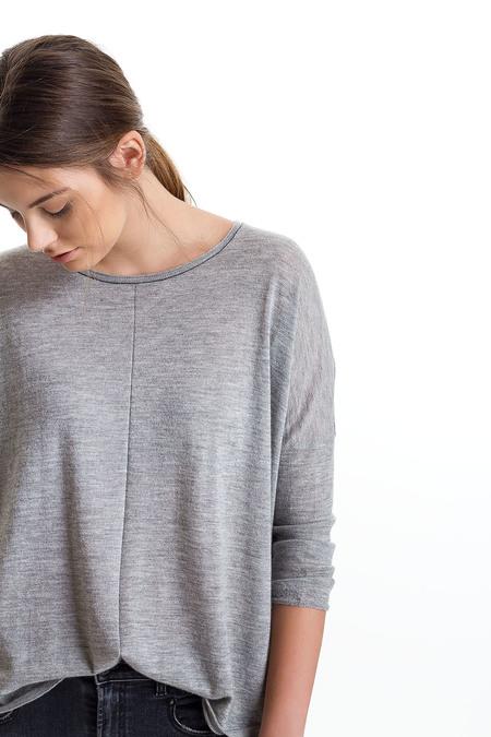 Paychi Guh Cashmere Tissue Weight Scoop - Heather Steel