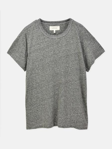 The Great. THE BOXY CREW TOP - HEATHER GREY