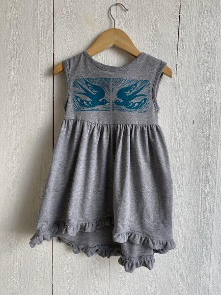 Kids Conrado Laurel Handprinted Girls Dress by Althea Designs - Birds