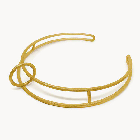 Metalepsis Projects Float Collar - Gold Plated Stainless Steel