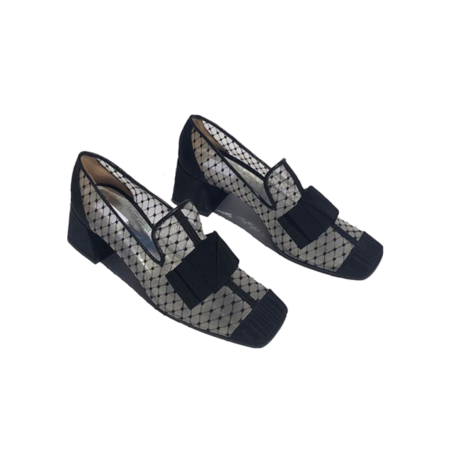 Suzanne Rae Reseau Smoking Loafer - Black