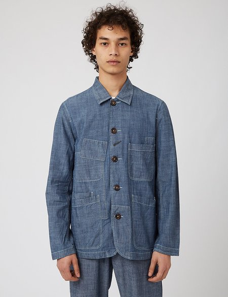 Universal Works Bakers Patched Jacket - blue